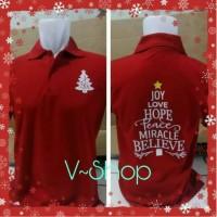T-shirt kaos Merry christmas red