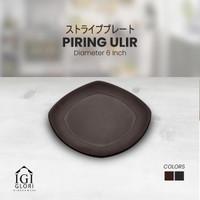 GLORI Melamin 6 Inch Piring Makan Restoran Ceper Ulir Original G2406