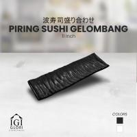 Glori Melamin Piring Makan Sushi Gelombang Original SNI 11 inch G2911