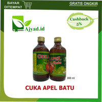 Cuka Apel Batu Malang Organik 300 ml Apple Cider Vinegar Asli Original