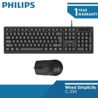 Philips Wired Keyboard C234 Mouse Combo