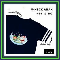Baju Kaos Anak Kerah V (V-Neck) Cowok dan Cewek (Unisex) edisi Natal (
