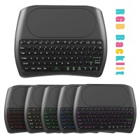 Terbaik D8 Keyboard + Touchpad + Air Mouse Wireless 2.4GHz Backlight