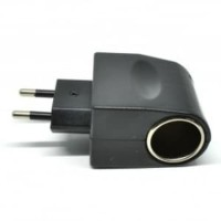 Colokan Listrik EU Plug ke Car Charger Converter 12V 500mA