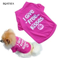 Mantap Boatsea Rose-red Lip T-shirt Small Puppy Spring Shirt Vest