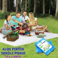Alas Piknik Kemping Disposable Travel Mat Picnic Camping Tikar TL034