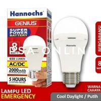 Hannochs Lampu Emergency LED AC/DC Genius 8 watt