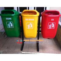 Tempat Sampah Gandeng Organik Non Organik & B3