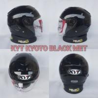 KYT KYOTO - HITAM METALIK BLACK MET GLOSSY ORIGINAL KYT