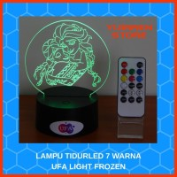 LAMPU TIDUR MEJA LED RGB 7 WARNA UFA LIGHT FROZEN With REMOTE