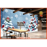 3D Wallpaper Dinding | Wall Sticker Custom | Natal Christmas X-Mas 018