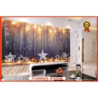 3D Wallpaper Dinding | Wall Sticker Custom | Natal Christmas X-Mas 015