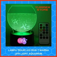 LAMPU MEJA LAMPU TIDUR LED RGB 7 WARNA UFA LIGHT AQUARIUM With REMOTE
