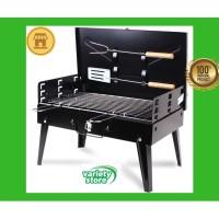 Koper Alat Panggang Sate Daging BBQ Griller Outdoor Foldable Portable