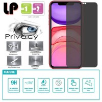 LP Anti-Spy Tempered Glass iPhone 11 - Kaca Privacy Original Ori Murah