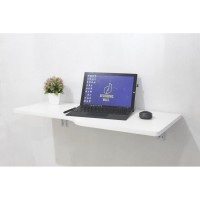 Floating Desk STEFFY -Meja Gantung ukuran 81x41 cm Ready Hitam & Putih
