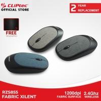 Mouse Wireless CLIPtec RZS855 Fabric Xilent Slim Fit Design 1200DPI