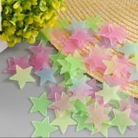 (Set isi 100pcs)Star wall stiker/Stiker bintang glow in the dark