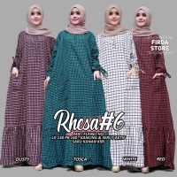 baju rhesa #6 super jumbo gamis flanel muslim wanita simple cantik