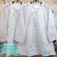 Baju Atasan Wanita Blouse Muslim Pearl #2 Putih