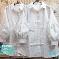 Baju Atasan Wanita Blouse Muslim Pearl #6 Putih