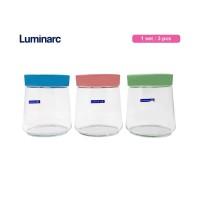Luminarc Paket Toples Makanan Kue Kaca Pot Swing Set 3 pcs Glass Jar