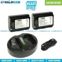 Wasabi Power PAKET 2 Battery + Charger for NP-FZ100 (A6600 A7C A7III)