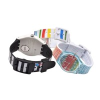Printed Silicone Sport Strap Band for SWATCH 19MM Tali Jam Swatch