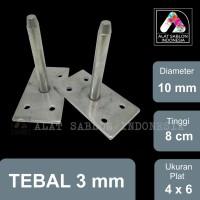 AS PIN 10MM STOPER KNOCK THAILAND 4cmX6cm REGISTER ALAT SABLON