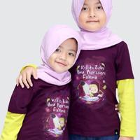 (S) Kaos Afra Kids Anak Perempuan Lengan Panjang Ukuran S