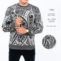 Sweater Pria / Sweater Lengan Panjang Tribal