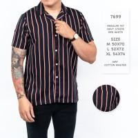 Kemeja Pria Reguler Fit Lengan Pendek Stripes Salur / Kemeja Stripe