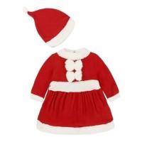 Baju Natal Kostum Sinterklas Santa Anak Perempuan