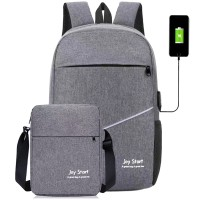 PROMO Tas Ransel USB Charger Import JS0150 Tas Laptop + Selempang 8in