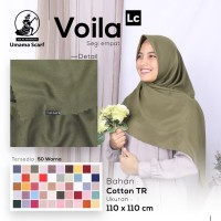 Kerudung VOILA LC UMAMA Hijab Jilbab Segi Empat Polos Laser Cut