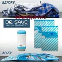 Portable Vacuum Pump & Bag Travel Kit /Vacuum Travel + Kantong Plastik