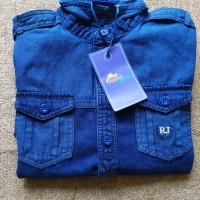 Kemeja denim branded anak bahan blue jeans brand rodeo junior
