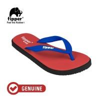 Fipper Wide / Sandal Jepit Unisex / Red - Black - Blue