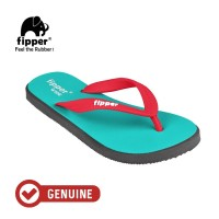 Fipper Wide / Sandal Jepit Unisex / Turquoise - Grey - Red
