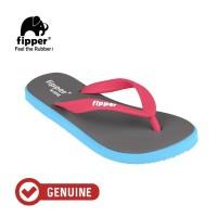 Fipper Wide / Sandal Jepit Unisex / Grey Light - Blue Sky - Pink Punch