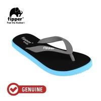 Fipper Wide / Sandal Jepit Unisex / Black - Blue Sky - Grey Light