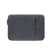 Tas Laptop 13.3 inch Softcase Nylon MacBook sleeve case Dark Grey