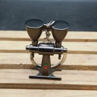 gantungan kunci alat alat kopi gooseneck kettle moca pot coffee press