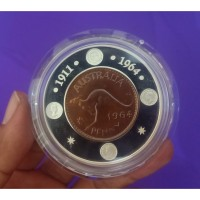 Koin Perak 1964 Penny 40th Anniversary Silver Proof Coin