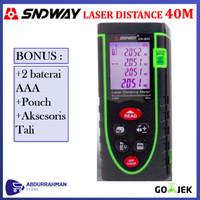 SNDWAY Laser Distance Meter 40 M - Alat Ukur Jarak 40m Digital