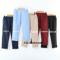 BAGGY PANTS Wanita Jumbo Bahan Katun Stretch ALL SIZE-XL-XXL-3XL-4XL - ALL SIZE