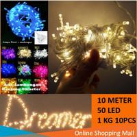 Raja - Lampu Hias Natal 10 Meter 50 LED / Tumblr Light / LED Dekorasi
