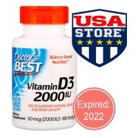 DOCTOR Vitamin D3 2000 IU 180 Softgels Doctor's Best D-3 2000UI