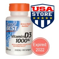 DOCTOR Vitamin D3 1000 IU 180 Softgels Doctor's Best D-3 1000UI