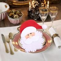 Terlaris Blue2 Holder Peralatan Makan Desain Santa Claus untuk